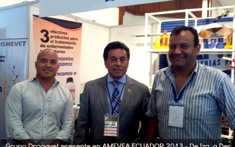 Grupo Drogavet presente en AMEVEA ECUADOR 2013