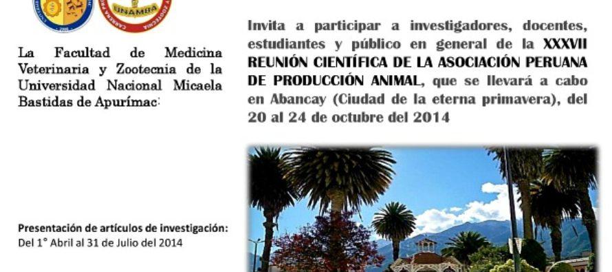 XXXVII Reunión Científica de la Asociación Peruana de Producción Animal