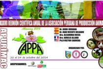 XXXVII Reunión Científica Anual de la Asociación Peruana de Producción Animal – APPA