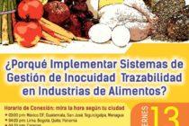 EN VIVO: Porque Implementar Sistemas de Gestión de Inocuidad – Trazabilidad en la Industria Alimentaria