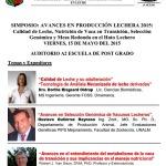 Simposio: Avances en Producción Lechera 2015