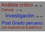 análisis crítico