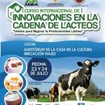Curso Internacional de Innovaciones en la Cadena de Lácteos
