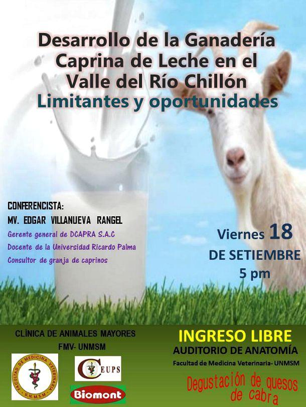 Conferencia: Desarrollo de la Ganadería Caprina de Leche en el Valle ...