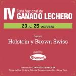 Del 23 al 25 Octubre, Biomont los invita a la IV Feria Nacional de Ganado Lechero
