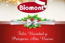 Biomont les desea Feliz Navidad y Prospero Año Nuevo