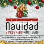 Perulactea les Desea una Feliz Navidad y Próspero Año 2016
