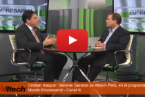 Youtube: Entrevista a Cristian Salazar de Alltech Perú en el Programa Mundo Empresarial