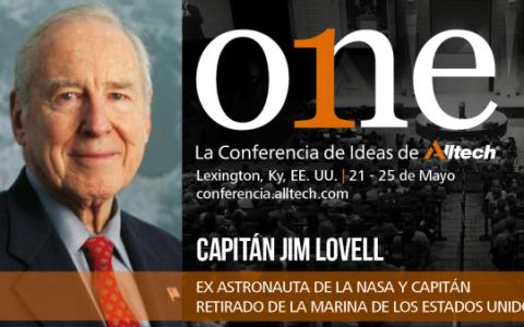 jim_lovell-comandante del Apolo 13-en one conferencia de ideas de alltech