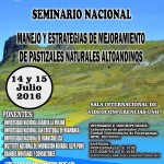 Seminario Nacional: Manejo y Estrategias de Mejoramiento de Pastizales Naturales Altoandinos