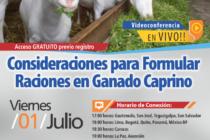 EN VIVO: Condiciones para Formular Raciones en Ganado Caprino