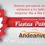 Felices Fiestas Patrias, les desea Andeanvet