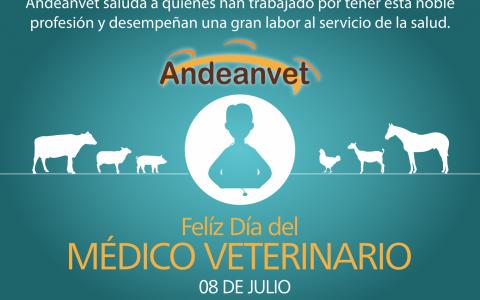 Andeanvet productos veterinarios desea feliz dia a los medicos veterinarios