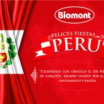 Felices Fiestas Perú, te desea Laboratorios Biomont