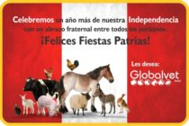 Felices Fiestas Patrias, les desea Globalvet