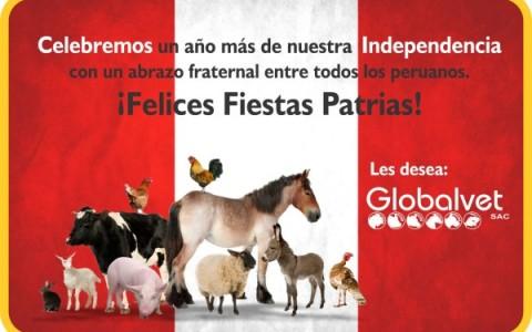 Globalvet Saluda por Fiestas Patrias 2016