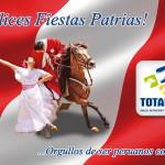 Felices Fiestas Patrias Perú, les desea Totalvet