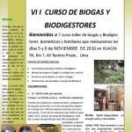 VII Curso de Biogas y Biodigestores
