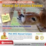 Conferencia: Manejo de Calostro Bovino - Ingreso Libre