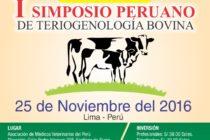 I Simposio Peruano de Teriogenología Bovina 🗓