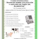 """I Curso Internacional """"Avances Sobre Utilización y Análisis de Fibra en Alimentos"""""""