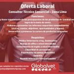 Globalvet Solicita un Consultor Técnico Comercial para la Zona de Lima