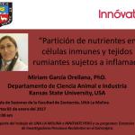 """UNALM: Seminario """"Partición de Nutrientes Entre Células Inmunes y Tejidos de Rumiantes Sujetos a Inflamación"""""""