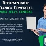 Totalvet Solicita Representante Técnico Comercial para Zona Selva Central