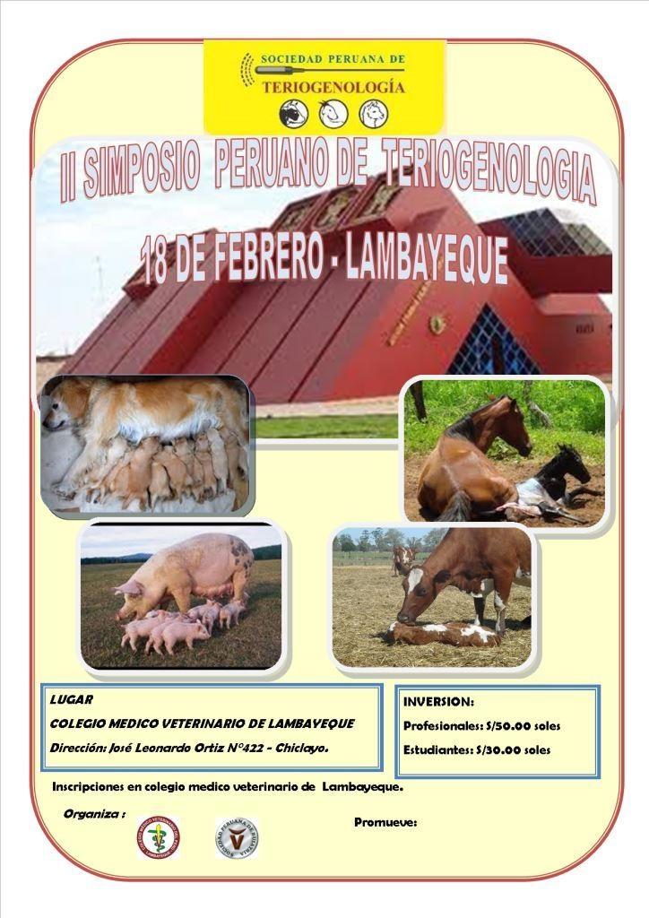 II SIMPOSIO DE TERIOGENOLOGIA - LAMBAYEQUE
