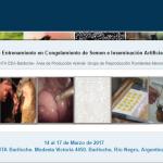 XXXV Curso Internacional de Entrenamiento en Congelamiento de Semen e Inseminación Artificial en Ovinos y Caprinos