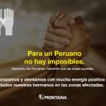 Montana se Solidariza con Todos Nuestros Hermanos de las Zonas Afectadas