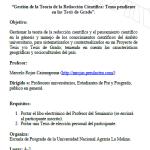 """Seminario """"Teoría de la Redacción Científica: Tema Pendiente en las Tesis de Grado"""""""