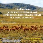 Conferencia: ¿Cuál es el futuro de los Camélidos Sudamericanos frente al cambio climático?