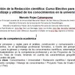 Gestión de la Redacción Científica: Curso Electivo para el Aprendizaje y Utilidad de los Conocimientos en la Universidad