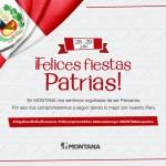Montana les desea: ¡Felices Fiestas Patrias!