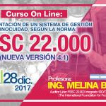 Curso On Line: Implementación de un Sistema de Gestión de la Inocuidad según la Norma FSSC 22.000 - Nueva Versión 4.1