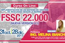 Curso On Line: Implementación de un Sistema de Gestión de la Inocuidad según la Norma FSSC 22.000 – Nueva Versión 4.1