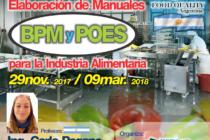 Curso On Line: Elaboración de Manuales BPM y POES para la Industria Alimentaria 🗓