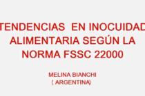 Videoclase: Tendencias en Inocuidad Alimentaria según la Norma FSSC 22000