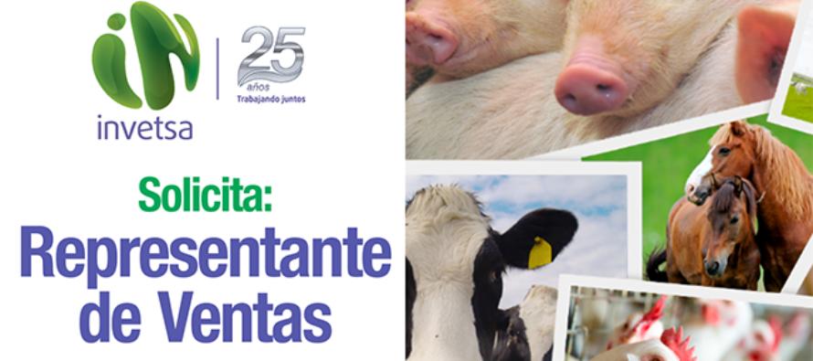 Invetsa: Busca Representante de Ventas de Productos Veterinarios en Arequipa