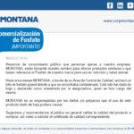 MONTANA – Comunicado sobre Comercialización de Fosfato - ¡Importante!