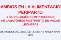 Videoconferencia: Cambios en la Alimentación Periparto y su Relación con Procesos Inflamatorios Postparto en Vacas