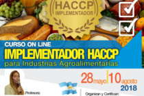 Curso On Line: Implementador HACCP para Industrias Agroalimentarias 🗓
