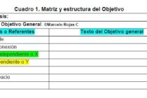 Tesis de Grado: Matriz y estructura del Objetivo