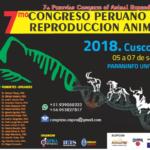 7mo Congreso Peruano de Reproducción Animal Cusco - Perú 2018