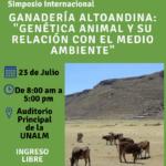 Simposio Internacional: Ganadería Altoandina, Genética Animal y su Relación con el Medio Ambiente – Ingreso Libre