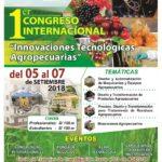 I Congreso Internacional: Innovaciones Tecnológicas Agropecuarias