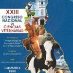 XXIII Congreso Nacional de Ciencias Veterinarias - Cajamarca 2018