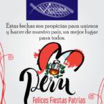 ¡Felices Fiestas Patrias les Desea Laboratorio Victoria!