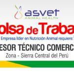 Solicitamos Asesor Comercial para la Sierra Central del Perú